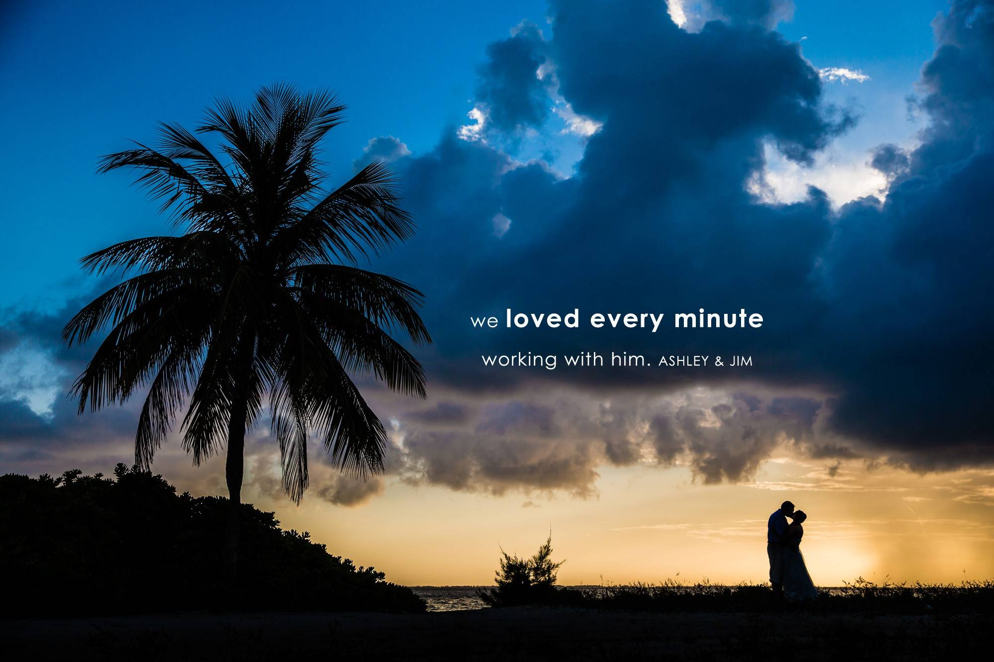 Beautiful sunset from a destination wedding on Grand Cayman Island by NH wedding photographer Eric McCallister Photography.